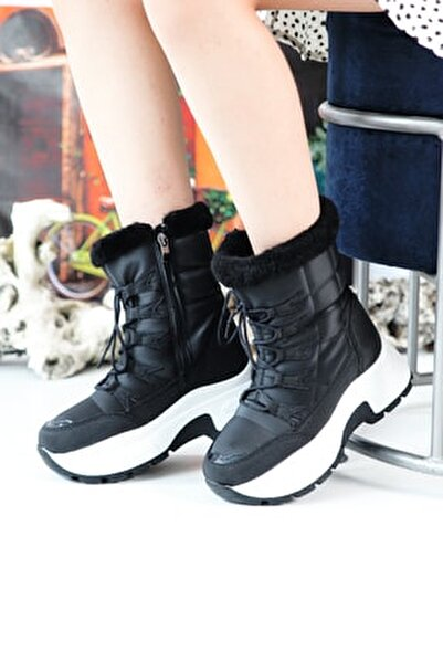 7455 Kürklü Kadın Bot Ayakkabı