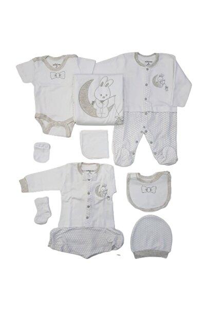 """Aziz Bebe 10227 Erkek Bebek """"tavşan"""" Işlemeli 10'lu Hastane Çıkışı"""
