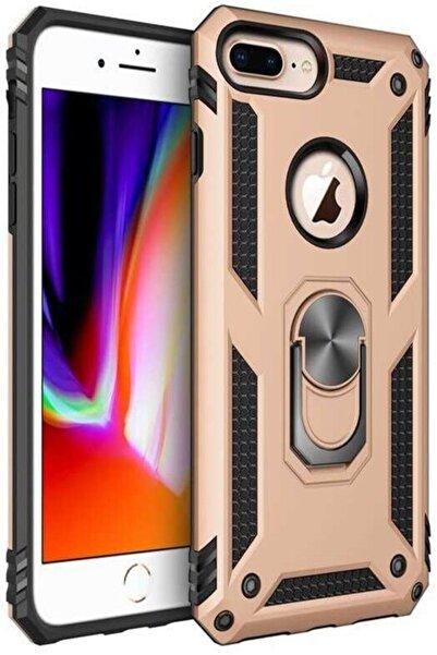 cepsesuar Apple Iphone 8 Plus Kılıf Mıknatıslı Stantlı Yüzüklü Tam Koruma