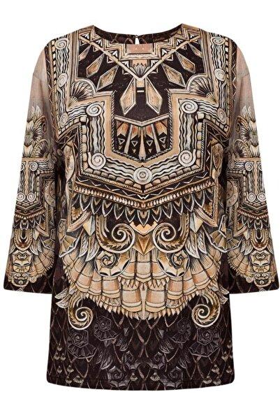 Faberlic Kahverengi Kadınlar Için Bluz 34 Beden
