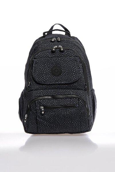 SMART BAGS Smbky1215-0091 Puanlı Siyah Kadın Sırt Çantası