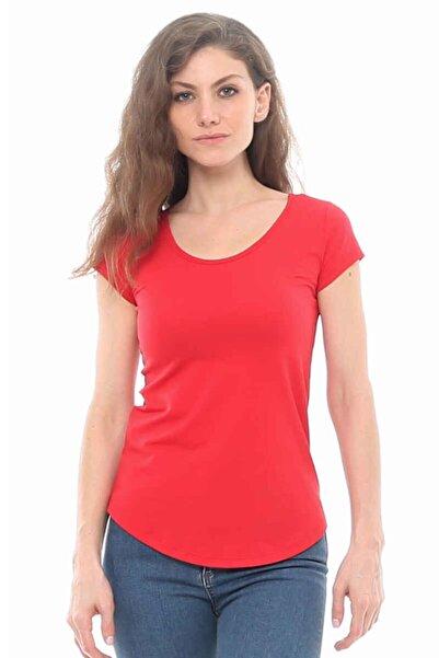 Cazador Cdr 922 Arka Çift Çapraz Tişört Kırmızı