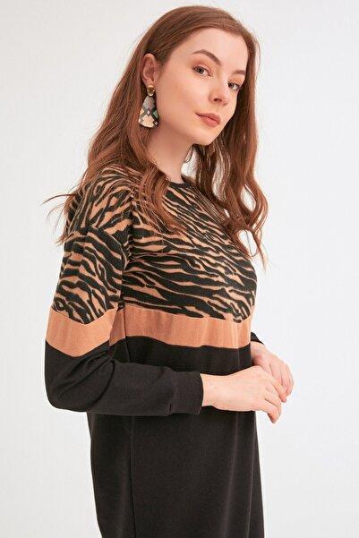 Fulla Moda Zebra Desenli Tunik
