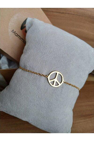 Mammamia Kadın Barış Gold Çelik Bileklik