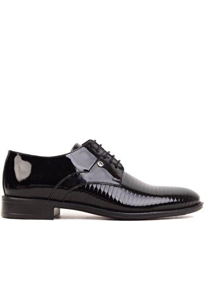 Pierre Cardin - Siyah Rugan Erkek Klasik Ayakkabı