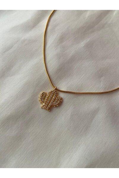 ms merijewelry Taşlı Kaktüs Kolye