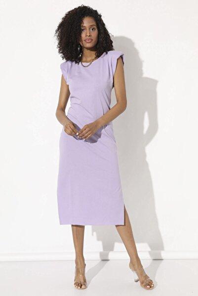 Arma Life Vatkalı Uzun Elbise - Lila