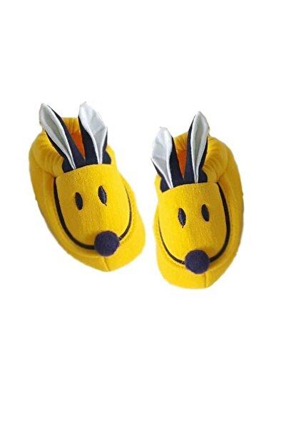 bebegen Tavşan Kulaklı Penye Kaymaz Taban Bebek Panduf Patik Sarı Lacivert