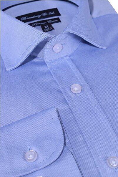 Ottomoda Broadway Premium Kalite Uzun Kollu Klasik Erkek Gömlek Navy
