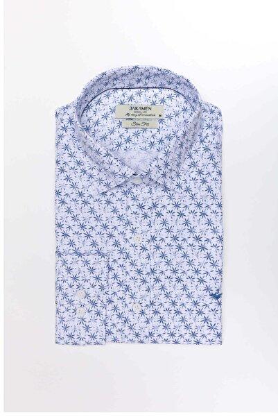 Jakamen Jk31sf01m122 Slim Fit Baskı Desen Gömlek -02