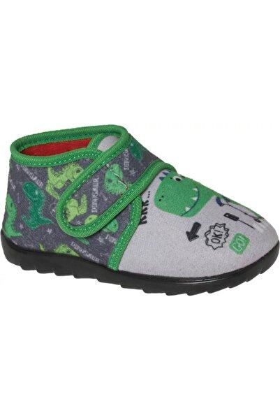 Bobbi-Shoes Unisex Çocuk Gri Desenli Panduf