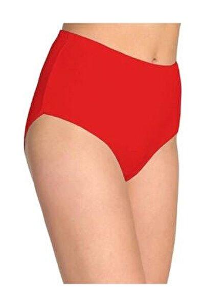 Kadın Kırmızı 6'lı Paket Pamuklu Ribana Bato Külot 0922