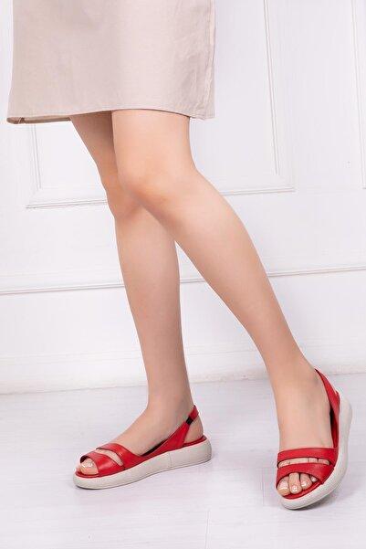 Deripabuc Hakiki Deri Kadın Deri Sandalet Dp-1840