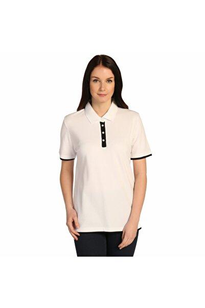 Solo Polo Yaka Beyaz %100 Pamuk Bayan Tişört