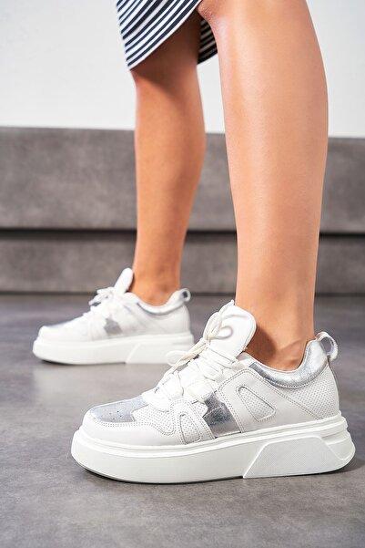 Louis Cardy Pero Beyaz Hakiki Deri Kadın Sneakers