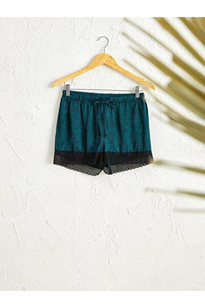 LC Waikiki Kadın Orta Yeşil Baski  Pijama Alt