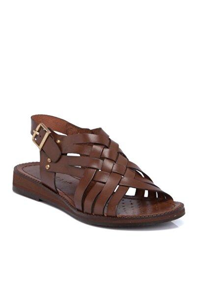 Tergan Taba Deri Kadın Sandalet N64991a58