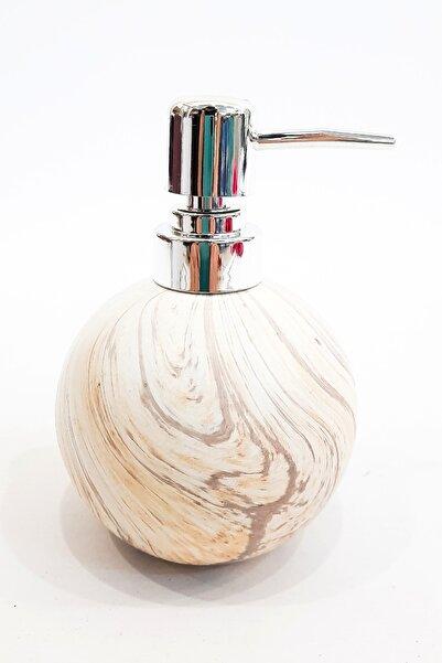 Bondy Porselen Sıvı Sabunluk Mermer Desenli