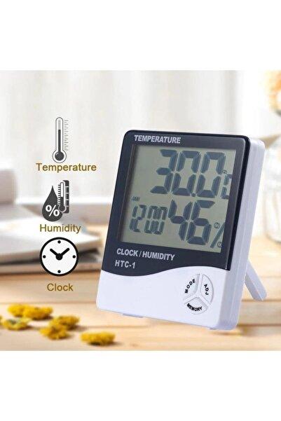 yopigo Htc Dijital Bebek Derecesi Sıcaklık Ve Nem Ölçer Higrometre Termometre Saat