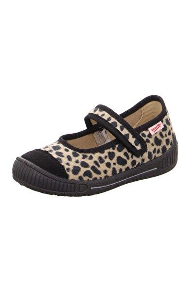 Superfit Kız Çocuk Panduf Kreş Ayakkabısı Siyah Leopar