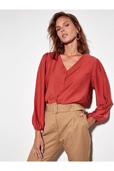LC Waikiki Kadın Kiremit Kırmızı  Bluz