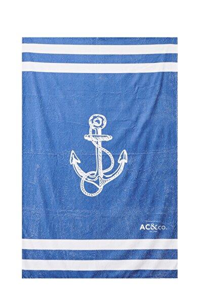 AC&Co / Altınyıldız Classics Erkek Lacivert Plaj Havlusu