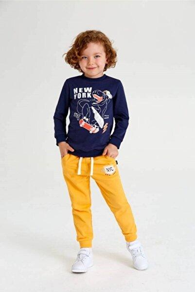 Wonder Kıds Wonder Kids Lacivert Baskılı Sweatshirt
