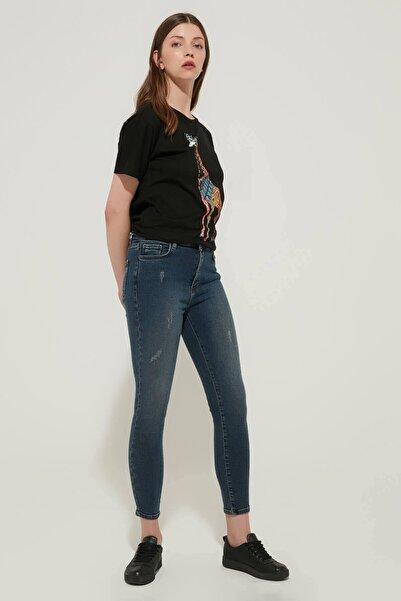 ZİNDİ Kadın Yüksek Bel Skinyy Jeans Mavi