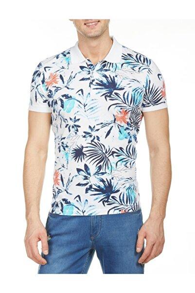 Bisse Slim Fit Desenli Polo Yaka T-shirt