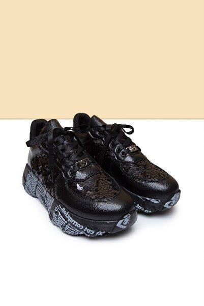 Pierre Cardin PC-30435 Siyah Kadın Spor Ayakkabı