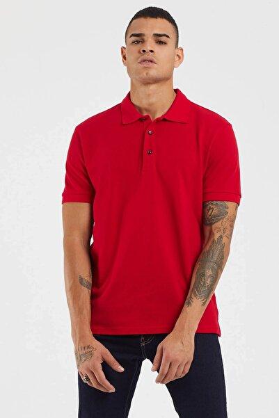TBASIC Erkek Kırmızı Basic Polo Yaka Tişört