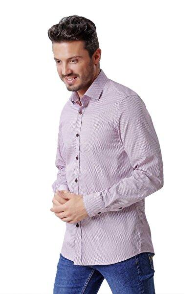 Ottomoda Uzun Kollu Desenli Erkek Gömlek