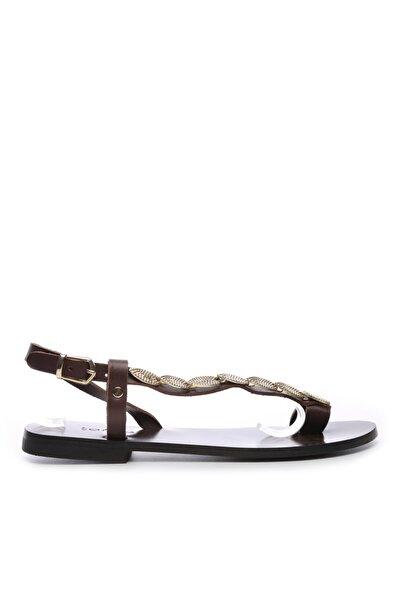 KEMAL TANCA Kadın Derı Sandalet Sandalet 607 Rl114 Byn Snd