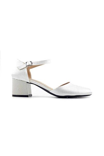 PUNTO 544808 Kadın Topuklu Ayakkabı-sedef