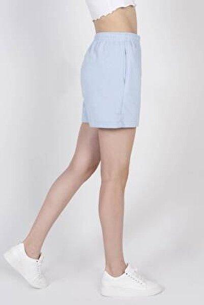 Kadın Mavi Cep Detaylı Şort Ş0941 - F3 - F4 ADX-0000022301