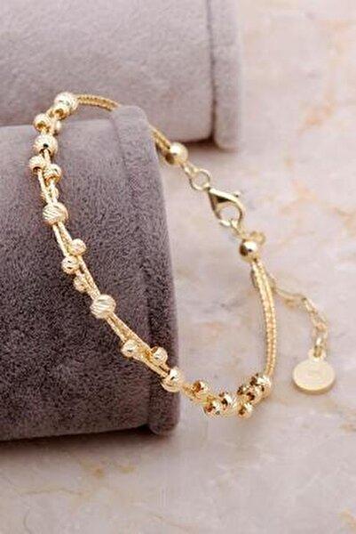 Dorissa Altın Yaldızlı Gümüş Sarma Bilezik 3333
