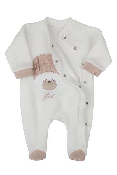Flexi Ayıcıklı Polar Kız Bebek Tulum