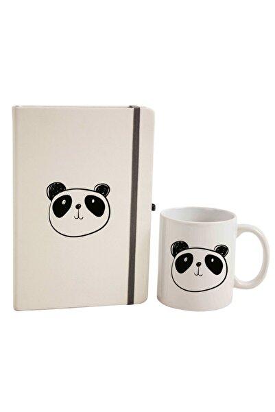 hediyerengi Panda Temalı Defter Kupa Bardak Seti M2