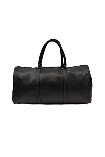 Feminen Bag Deri Seyahat Çantası Unisex Siyah