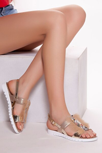 derithy -sandalet-altın