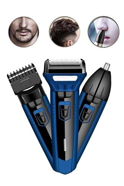 yopigo Pro New Mavi 3in1 Erkek Bakım Seti Saç Sakal Burun Tıraş Makinesi