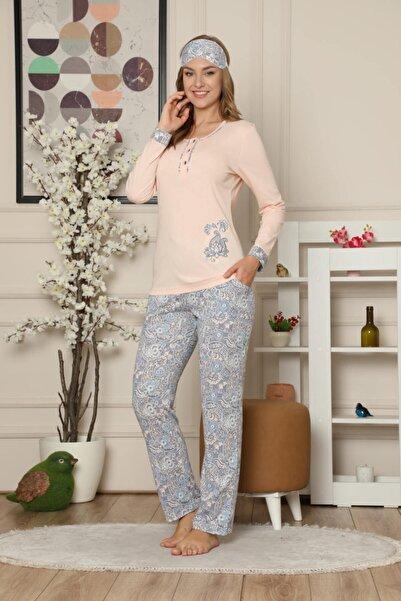 Manolya Kadın Pudra Süprem Pijama Takımı