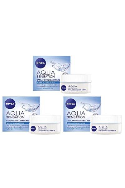 Nivea Aqua Sensation Canlandırıcı Yüz Bakım Kremi 50 ml 3 Adet