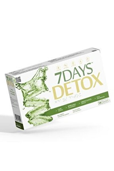 7 Days Detox - Spirulina Cla Yeşil Çay Ve Lime - 14 Saşe