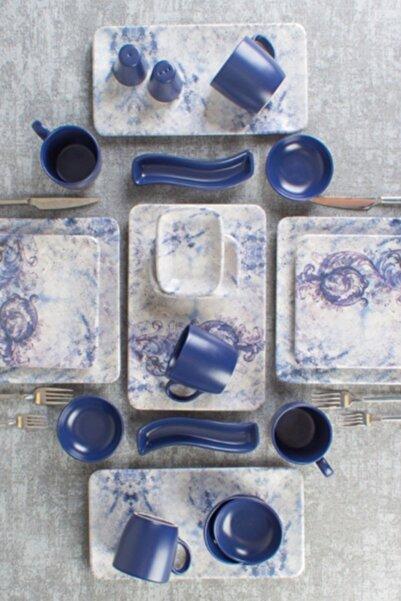 ACAR Mavi 33 Parça Mimoza Kahvaltı Seti Htc-010454/1