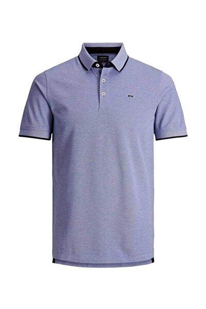 Jack & Jones Erkek Mavi Tişört