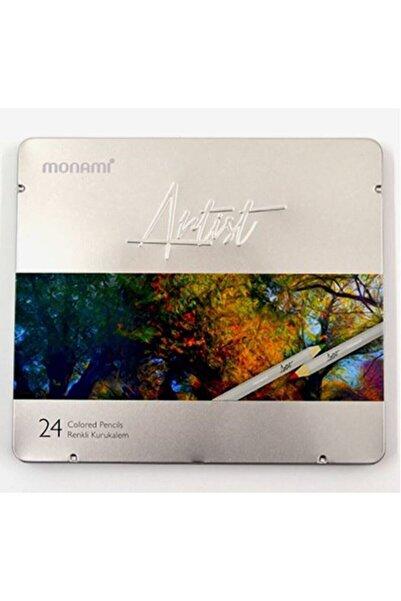 Monami Artist Kuruboya Metal Kutu 24 Renk