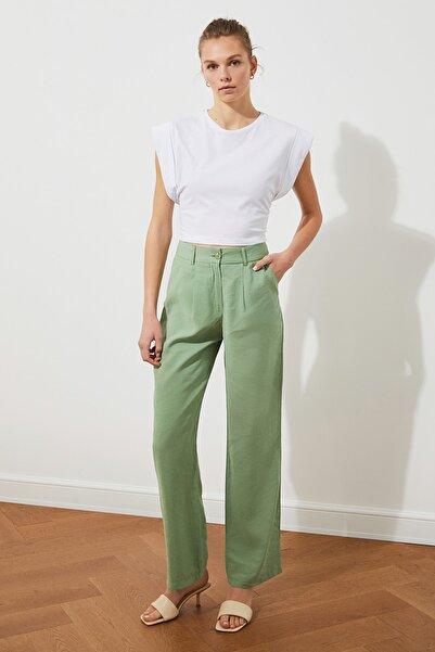 TRENDYOLMİLLA Mint Yüksek Bel Pantolon TWOSS21PL0196