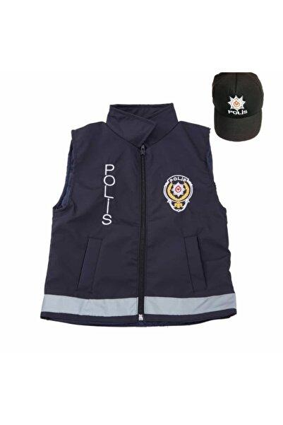 Yonca Çocuk Çocuk Kıyafeti Kostüm Polis Yeleği Ve Şapkası