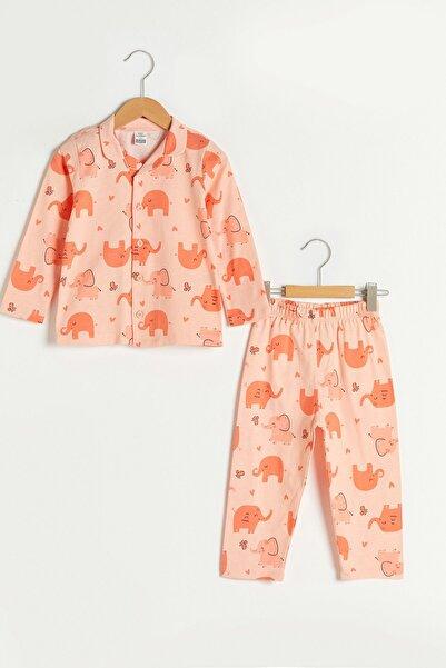LC Waikiki Kız Bebek Uçuk Şeftali Bas Ltc Pijama Takımı